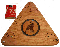 Triangle cribbage board with laser image - Hanging