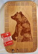 Cribbage board with laser image - 3 person Hanging